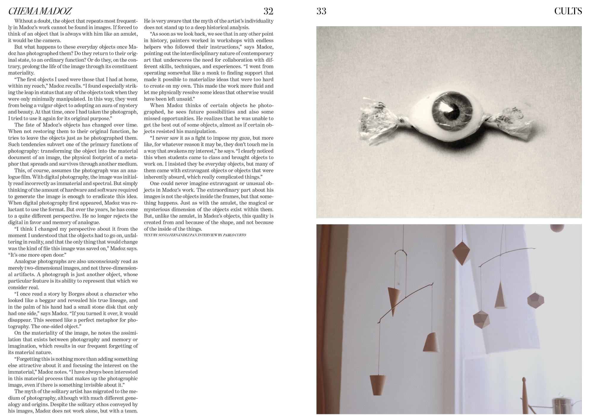 Chema Madoz by Pablo Curto